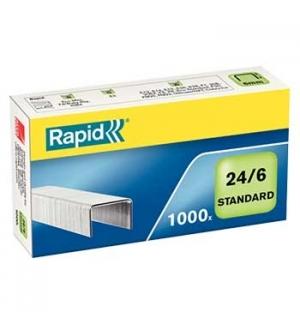 Agrafos 24/6 Rapid (2/20 Folhas) Cx1000un - 1un