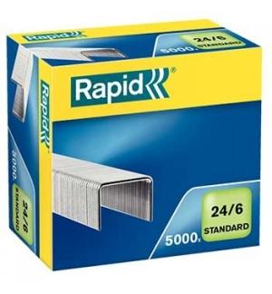 Agrafos 24/6 Rapid (2/20 Folhas) Cx5000un - 1un