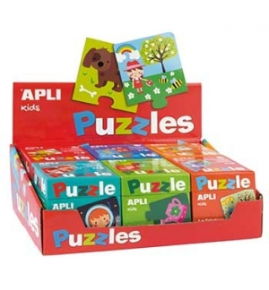 Expositor Jogo Educativo Puzzle Apli Kids 6un (Vermelho)