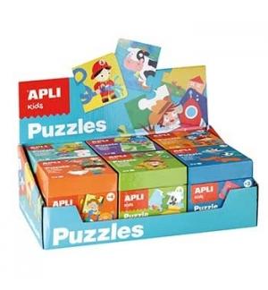 Expositor Jogo Educativo Puzzle Apli Kids 6un (Azul)