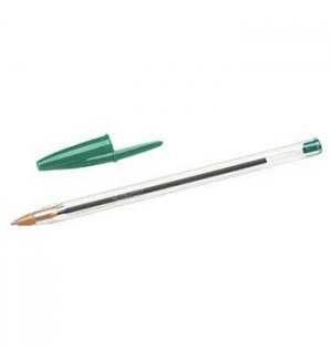Esferografica Ball Point BIC Cristal Verde Cx 50un