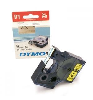 Fita Gravacao Dymo 09mmx7m Preto/Amarelo (40918)