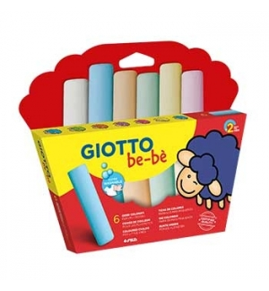 Giz Cores Sortidas Giotto Be-Be 6 cores
