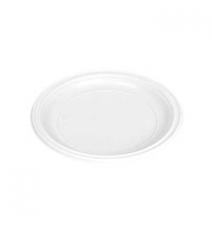 Pratos Plastico Branco Sobremesa 170ml (Pack50)