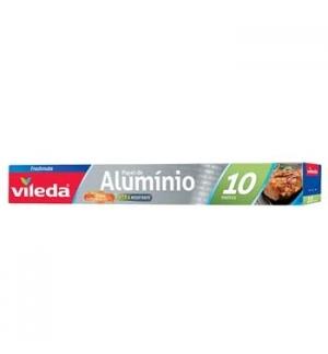 Rolo Aluminio Alimentar Vileda Reforado 10M - 1un