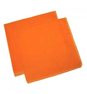 Pano Po Flanela (Qualid Standard) Laranja 50x50cm-(Pack12)