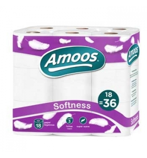 Papel Higienico Domestico 30mts 3Fls 18 Rolos