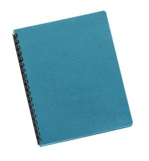 Capas Encadernar Delta Couro 250gr 100Folhas A4 Azul Celeste
