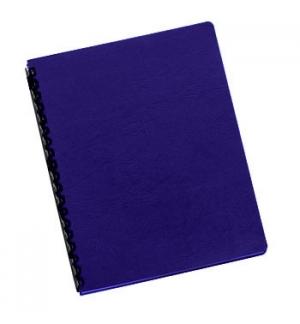 Capas Encadernar Delta Couro 250gr 100Folhas A4 Azul Royal