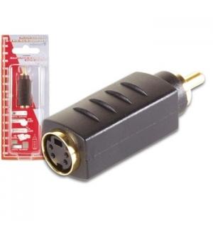 Adaptador S-VHS 4P mini-DIN F para RCA M Ouro