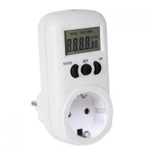 Medidor de consumo de energia 230V/16A tomada SHUCKO