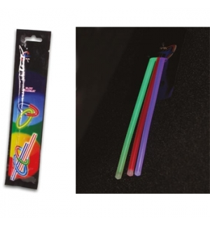 Bastao de luz 20cm diametro 0,5cm 3 cores pack3un