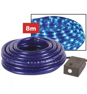 Corda de LUZ -2 canais, 8 m, azul, tomada waterproof