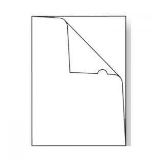 Bolsa Plastico em L A4 (200microns) -Cristal-50un