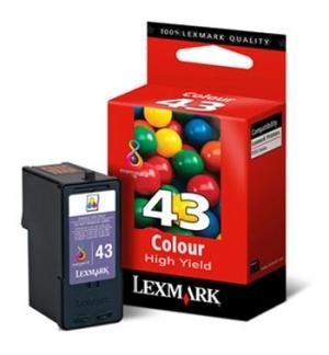 Tinteiro Lexmark 43XL Cor 18YX143E 24ml 500 Pág.