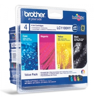 Pack Tinteiros Brother LC1100HYVALBP 4 Cores