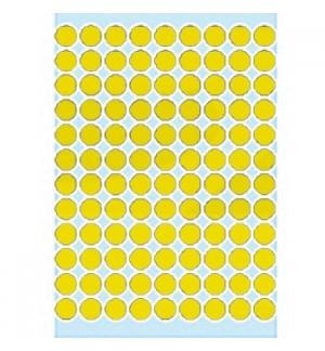 Etiquetas Redondas 08mm Amarelo Herma1841 540un