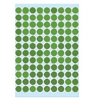 Etiquetas Redondas 08mm Verde Claro Herma1845 540un