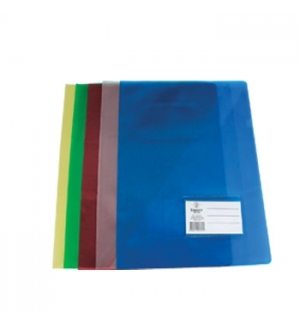 Bolsa Plastico em L Liso c/Bolsa/Visor-Branco-1un
