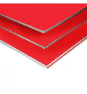 Placa K-Line Vermelho 5mm A3 Pack 5un