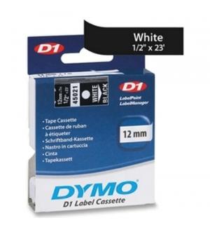 Fita Gravacao Dymo 12mmX7m Branco/Preto (45021)