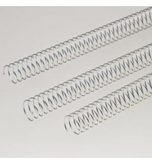 Argolas Espiral Metalicas Passo 5:1 28mm Cx 50 Prata