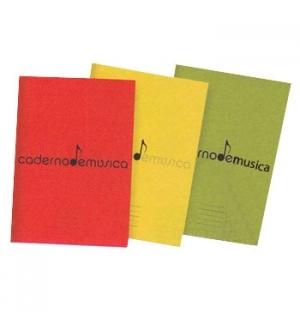 Caderno de Musica A4 20 Folhas