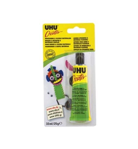 Cola UHU Creativ p/Espuma de Borracha e Materiais Flexiveis