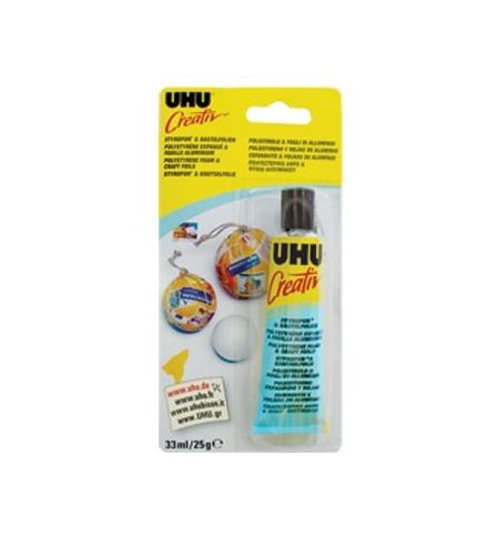 Cola UHU Creativ Esferovite/Folhas de Aluminio 33ml Blister