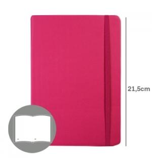 Bloco Notas Liso 21,5x14,5cm Semi Pele Rosa 116 Flh (agenda)
