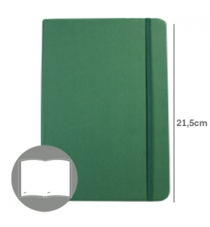 Bloco Notas Liso 21,5x14,5cm Semi Pele Verde Esmeralda 116F)