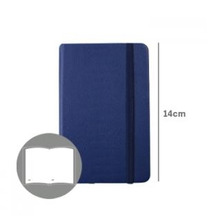Bloco Notas Liso 14x9cm Semi Pele Azul 116 Folhas