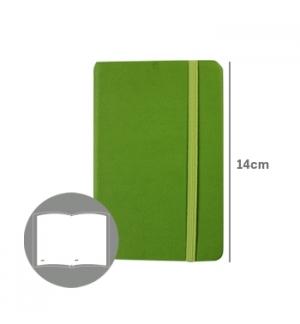 Bloco Notas Liso 14x9cm Semi Pele Verde 116 Folhas