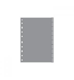 Separadores A4 Plastico 10un Cinzento