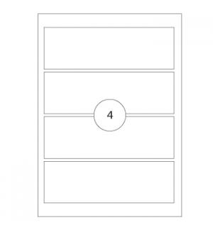 Etiquetas 190x61 p/Lombadas (1500 Folhas A4) 6000un
