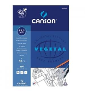 Papel Vegetal Canson A4 90gr 50 Folhas