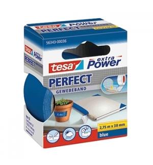 Fita Adesiva Tecido Tesa Extra Power Perfect 38mmx2.75m Azul