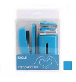 Gift Pack Agrafador+Furador Eagle Neon Color Azul