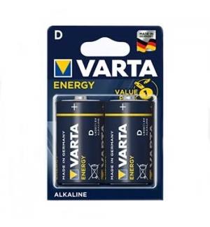 Pilhas Alcalinas Varta Energy LR20 (D) 1.5V 15000mAh 2un