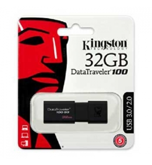 Pen Drive 32GB DataTraveler USB 3.0 Preto