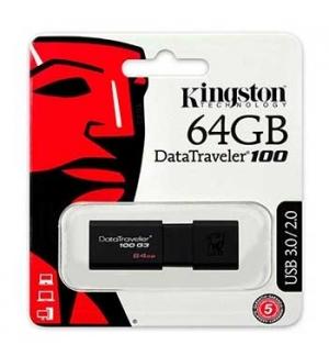 Pen Drive 64GB DataTraveler USB 3.0 Preto