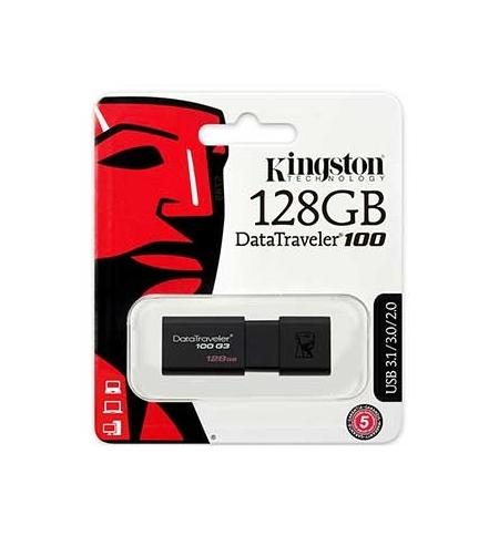 Pen Drive 128GB DataTraveler USB 3.0 Preto