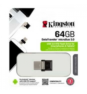 Pen Drive KINGSTON 64GB DataTraveler microDuo USB 3.0
