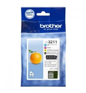 Pack Tinteiros Brother LC3211VAL 4 Cores 200 Pág.