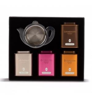 Caixa Coffret Continental Dammann 4X30g + Coador de Chá