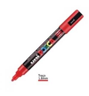 Marcador Uniball Posca PC5M 1,8mm Vermelho -1un