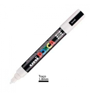 Marcador Uniball Posca PC5M 1,8mm Branco -1un