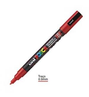 Marcador Uniball Posca PC3M 0,9mm Vermelho -1un