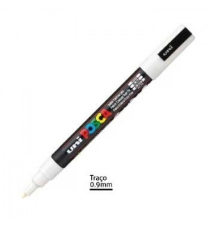 Marcador Uniball Posca PC3M 0,9mm Branco -1un
