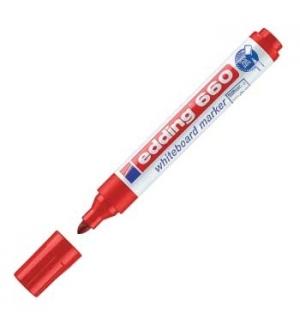 Marcador Quadros Brancos Edding 660 Vermelho - 1un